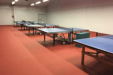 Sol sportif salle de tennis de table